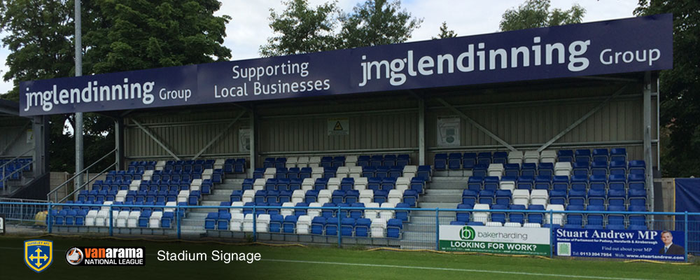 Guiseley stadium signs