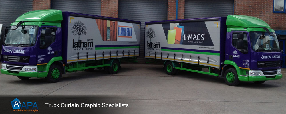 Truck curtain livery specialists